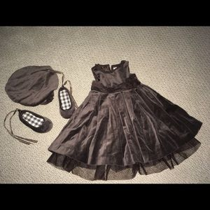 Janie & Jack Toddler Girl Dress, Shoes and Hat
